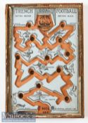 WWI Trench football game made 1915 -Orange and on laid green card boards with cut-out game design