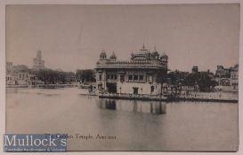 India Postcard 'Golden Temple' - Original postcard of the Golden temple and baba atal^ Amritsar