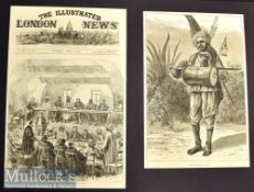 India – Two Original 1876 Engravings A Hindoo Medicant Pilgrim and A Strolling Minstrel at Madras