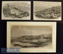 India and Punjab– Three Original Engravings to include Abbotabad one of our Sanitariums in the