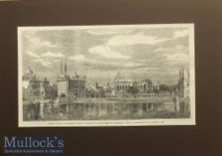 India & Punjab - Golden Temple Steel Engraving of the Holiest Sikh shrine golden temple Amritsar^