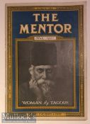 India - The Mentor - Women by Tagore c1921 rare magazine covering Tagore's views on women and