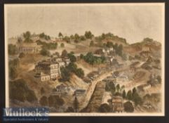 India & Punjab – Murree in the Punjab Coloured Engraving mounted measures 49x38cm approx.