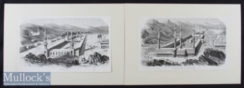 Arabia – Two Original French Engravings from a Journal dated 8th April 1854 entitled The Temple of