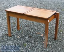 Vintage Children's Wooden Double School Desk 92x61x46cm approx. with hinged lids providing storage