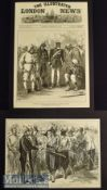 India & Punjab – Two Original Engravings 1876 Group of Survivors of the Defence of Lucknow 38x26cm