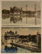 India Postcards (2) scenes of the Sikhs holiest shrine the golden temple of Amritsar^ Punjab.