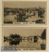 India - Original set of Real photo tobacco cards of the holiest Sikh shrine at Amritsar^ Punjab.
