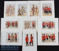 India & Punjab - Ten original colour plates from The Armies of India 1911 painted by Major A C
