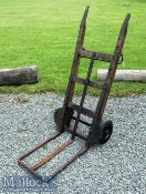 Vintage early 20th century Porter's Barrow Truck of wooden and metal construction^ height 122cm^ one