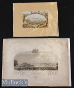 The Crystal Palace Exhibition 1851 Engraving. A very beautiful large panoramic view of the Crystal
