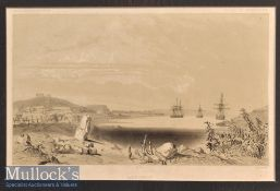 Caledonia – Bay St Vincent Engraving depicts the bay with ships in the distance^ mounted measures