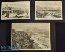 India & Punjab – Jummoo Cashmire Three original engravings made during the visit of the Prince of