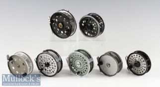Mixed Selection of Fly Reels (7) including 3x Daiwa reels F240^ 809 and 231^ Olympic 4340^ Twin Fish