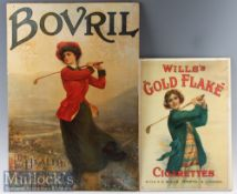 2x Golfing Advertisement/Shop Displays including Bovril For Health^ Strength and Beauty depicting