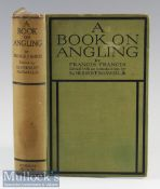 Francis Francis – A Book on Angling^ 1920^ with coloured plates of salmon flies with other