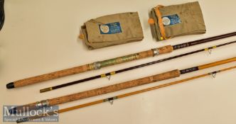 Edgar Sealey Float Rods (3) to include Edgar Sealey Black Arrow 10ft Float Rod 2 piece^ with cork