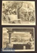 India – Two Original 1876 Engravings of the Royal Visit to Gwalior from sketches by William Simpson^