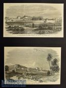 India & Punjab – Two Original Engravings to include Peshawur from a drawing by G T Vigne 1849