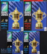 2003 Rugby World Cup Final etc Programmes (4): Iconic moments recalled, England's final victory over