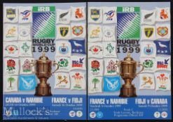 1999 Rugby World Cup Final etc Programmes (2): Four Pool C matches covered by two programmes from