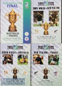 1999 Rugby World Cup Final etc Programmes (4): A5 glossy packed issues from Australia's win over
