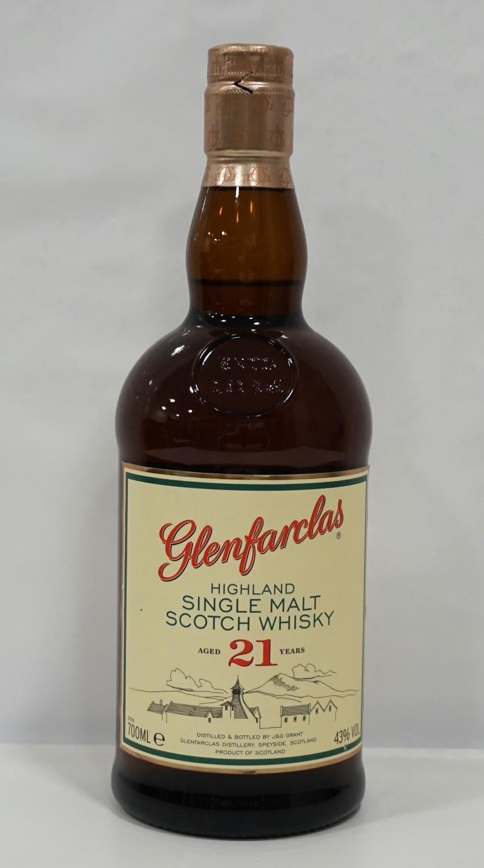 Lot 39 - GLENFARCLAS 21YO A nice bottle of the Glenfarclas 21 Year Old Single Malt Scotch Whisky. 700ml.