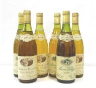 SIX BOTTLES OF MACON-VILLAGES A selection of bottles of vintage bottles of Macon-Villages,