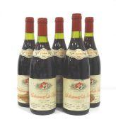 FIVE JACQUES CHARLET CHATEAUNEUF-DU-PAPE 1988 A collection of five bottles of Chateauneuf-du-Pape