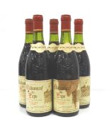 FIVE BOTTLES CHATEAUNEUF-DU-PAPE 1983 VIGNOBLE FABRE Five bottles of Vignoble Fabre Chateauneuf-du-
