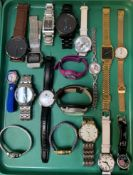 SELECTION OF LADIES AND GENTLEMEN'S WRISTWATCHES including Tissot, Megalith, Fossil, Casio, Guess,