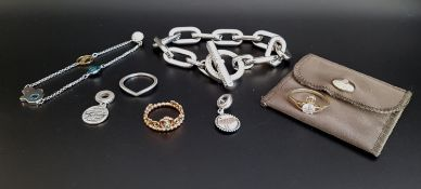 SELECTION OF FASHION JEWELLERY comprising a Vivienne Westwood silver gilt ring, in pouch; a