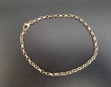 NINE CARAT GOLD BELCHER LINK BRACELET approximately 23.5cm long and 5.2 grams