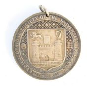 1881 Trinity College Dublin silver award medal to Charles Hubert Oldham,