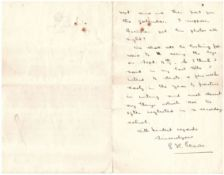 1911 (July 15) handwritten letter by Padraig Pearse, to Mr Cleary,