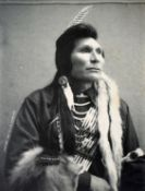 Major Lee Moorhouse (1850 - 1926) American Chief Umapine, Chief of the Cayuse Indians.