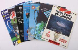 Football Programmes. European Cup Finals.