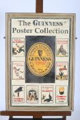 A FRAMED ADVERTISEMENT INSCRIBED THE GUINNESS POSTER COLLECTION 74cm x 49cm