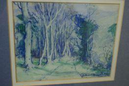 William Hoggatt RI RBC (1879-1961) British, The Avenue, Watercolour, Signed, 6.7.5 ins.