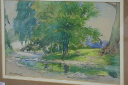 William Hoggatt (1879-1961) British, Artlebeck Bridge, Watercolour, Signed dated '05, 10 x 14 ins.