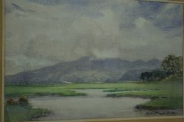 William Hoggatt RI RBC (1879-1961) British, North Barrule, Watercolour, Signed, 14 x 22 ins.