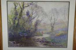 William Hoggatt RI RBC, Spring in Colby Glen, Watercolour, Signed, 14 x 18 ins.