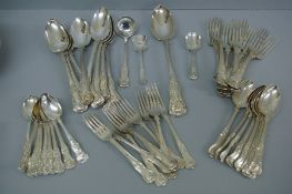 A collection of GIII, GIV, WIV, Victorian and Edwardian fiddle, shell and thread pattern silver