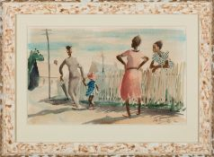 """William R. Hollingsworth, Jr. (American/Mississippi, 1910-1944) , """"Widow Man"""", watercolor on"""
