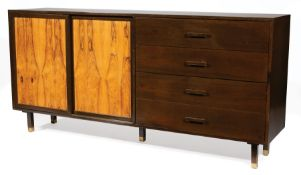Harvey Probber (American, 1922-2003) for Harvey Probber, Inc. Bleached Rosewood and Ebonized