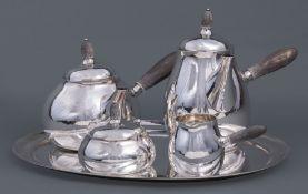 Georg Jensen Sterling Silver Coffee and Tea Service , pattern 80A, designed by Georg Jensen 1915, c.