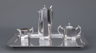 Japanese Sterling Silver After-Dinner Coffee Service , K. Uyeda, mid-20th c., incl. after-dinner
