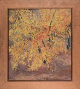 """Mildred Nungester Wolfe (American/Mississippi, 1912-2009) , """"Fall Foliage"""", oil on canvas, signed"""