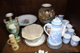SECTION 35. A collection of assorted mixed ceramics including a 15-piece Royal Worcester coffee