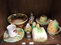 SECTION 34. A collection of assorted ceramic items comprising a Royal Doulton bowl, various Royal